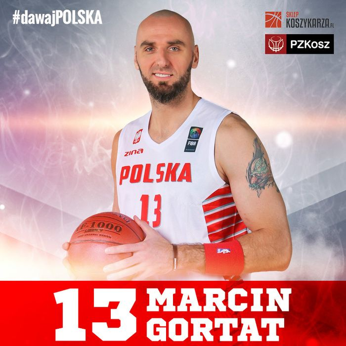 Marcin Gortat (#13) - środkowy  Reprezentant Polski w Koszykówce