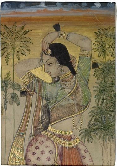 A Dancing girl, India, Deccan, Golconda, ca. 1700