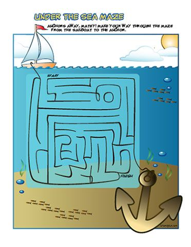 Printable Summer Games Under the Sea Printable Maze