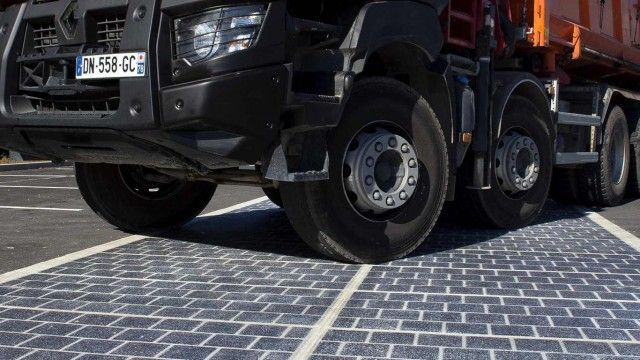 First ever solar panel road opens in France   A village in Normandy has installed 2,800 square metres of solar panels on one road     A v...