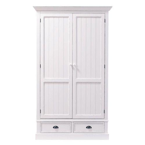 Kleiderschrank aus Holz, B 114cm, weiß