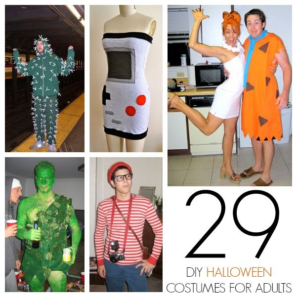 I did a DIY kids costume round up  last week, but adults need costumes too! I really like Halloween costumes, especially handmade ones so here are 26 homemade Halloween costumes for adults!
