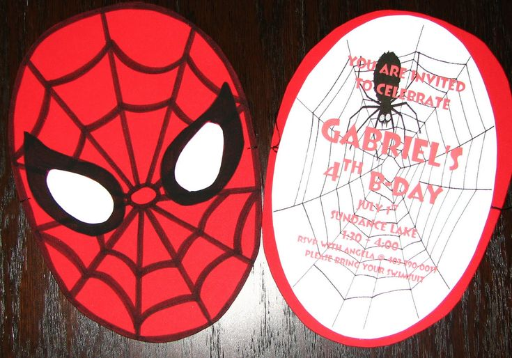DIY Homemade Spider-man Birthday Invitations - Utopia Party Decor: Cards and Invitations