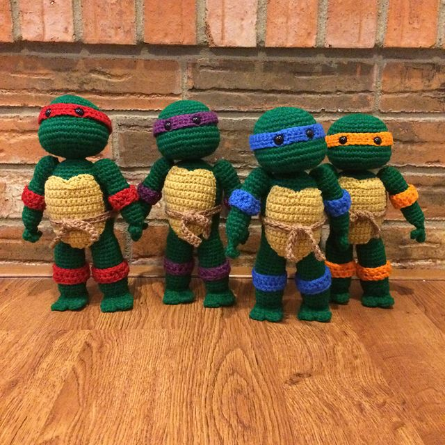 Free Crochet Pattern Teenage Mutant Ninja Turtles : 17 Best ideas about Crochet Ninja Turtle on Pinterest ...