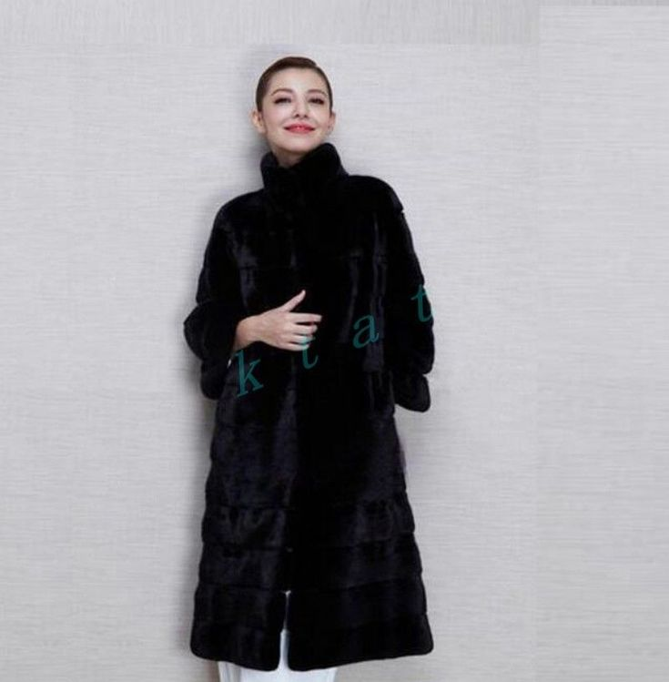 Womens Ladies Parkas Faux Fur Black Long Coat Warm Winter Thicken Jacket Coat