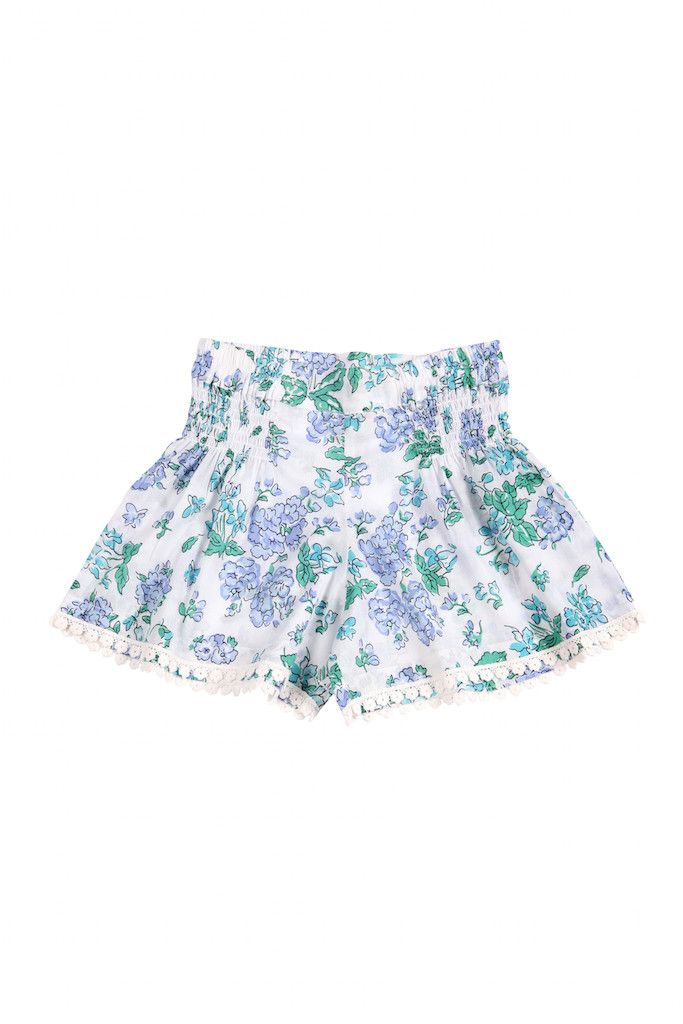Coco & Ginger - Er Bluebell Shorts Blue Greek Meadow