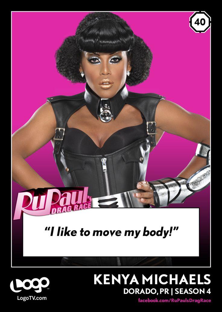 RuPaul's Drag Race TRADING CARD THURSDAY #40: Kenya Michaels