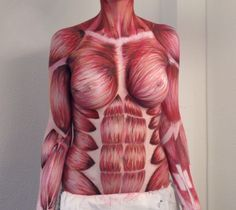 Image result for muscles airbrush body paint