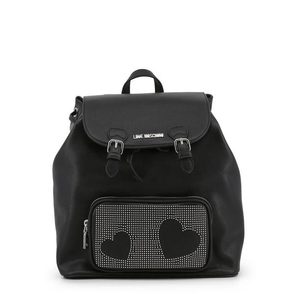 6685094b2f50 Love Moschino Backpack In Black With Heart Details - JC4108PP16LT ...