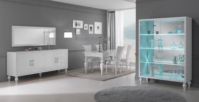 Woonkamer meubel Italiaanse Hoogglans wit Baroc