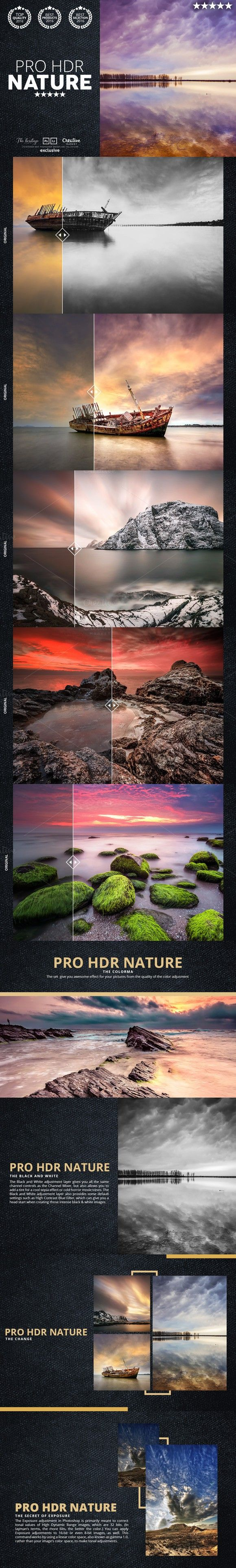 Pro HDR Nature 60 Lightroom Presets. Actions. $25.00