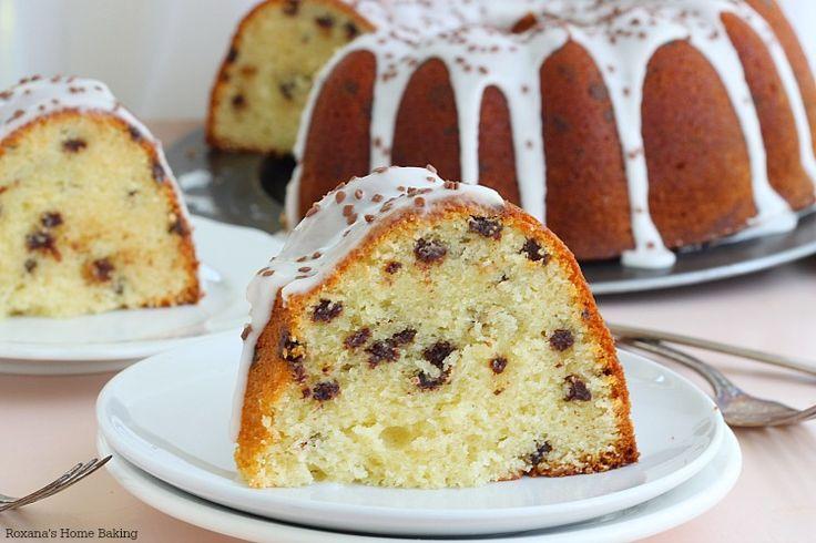 Chocolate chip amaretto cake recipe (I would use real amaretto)