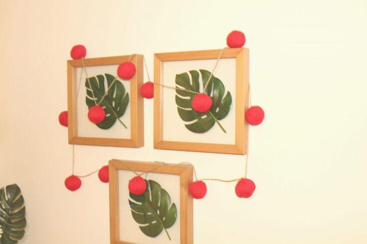 Yarn Ball Christmas Garland