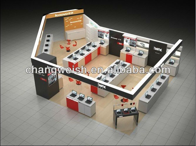 Laptop Shop Display Electronic Computer Store Fixture Shop