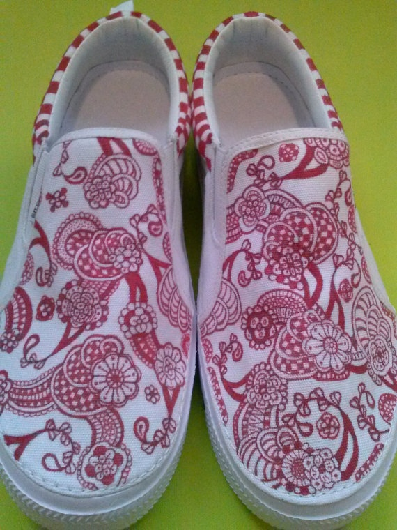 Sharpie Shoes Freehand Abstract Art Made To by SymbiotikFibers, $40.00