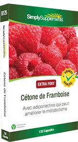 Cétone de Framboise- Riche en antioxydants, la cétone de framboise contient une protéine, adiponectine, qui peut améliorer le métabolisme.