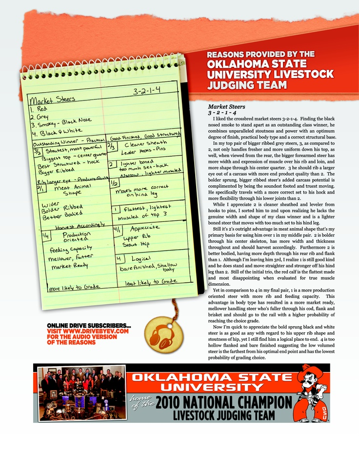 Market Steers from Oklahoma State University DRIVE