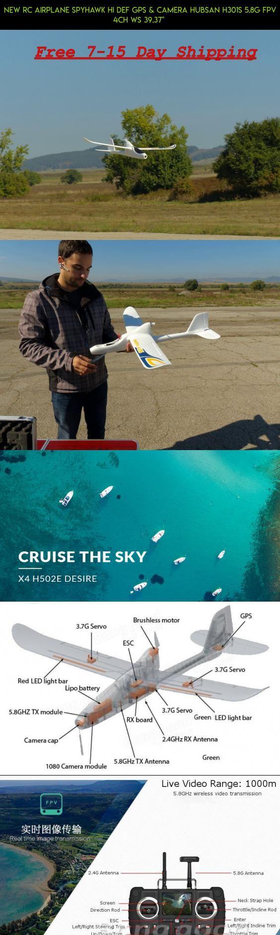 "NEW RC AIRPLANE SPYHAWK HI DEF GPS & CAMERA HUBSAN H301S 5.8G FPV 4CH WS 39.37""  #spyhawk #tech #shopping #plans #racing #drone #gadgets #hubsan #fpv #camera #technology #products #kit #parts"