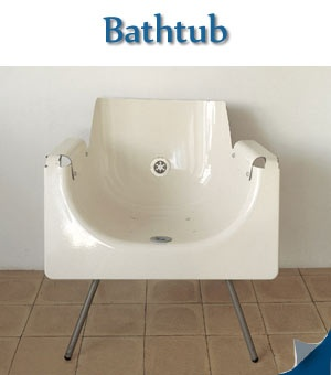 Recycled furniture using bathtub. Hmmm, I'm curious if you could end up with athlete's butt from this?