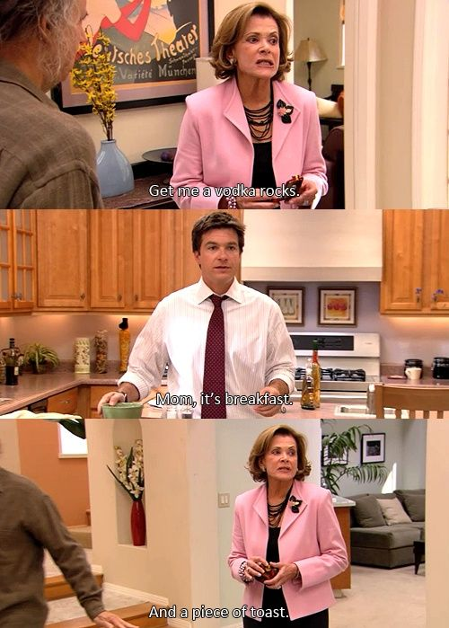 A well balanced breakfast according to Lucille