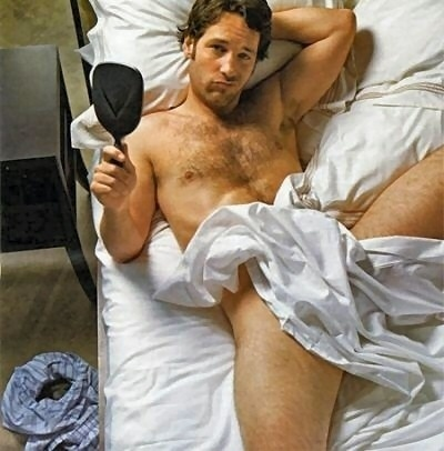 This is one of the sexiest poses i have ever seen, even with the duck face smirk, um, Paul Rudd, you are a campy man. And I like camp..