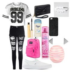 Back to school outfit for middle school #3 by shamya2003 on Polyvore featuring polyvore, fashion, style, Glamorous, Vans, JanSport, BaubleBar, Full Tilt, Stila and River Island
