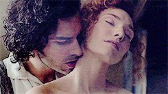 Pin for Later: 18 Supersexy GIFs of Irish Actor Aidan Turner That Will Leave You Gasping For Breath When This Neck Kiss Awakens You Sexually
