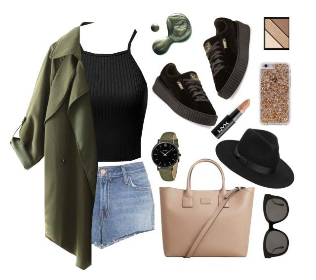 """""""Spring time🍀"""" by xanniee on Polyvore featuring J Brand, MANGO, Illamasqua, Elizabeth Arden, Lack of Color, Gentle Monster, CLUSE, NYX, Puma and Case-Mate"""