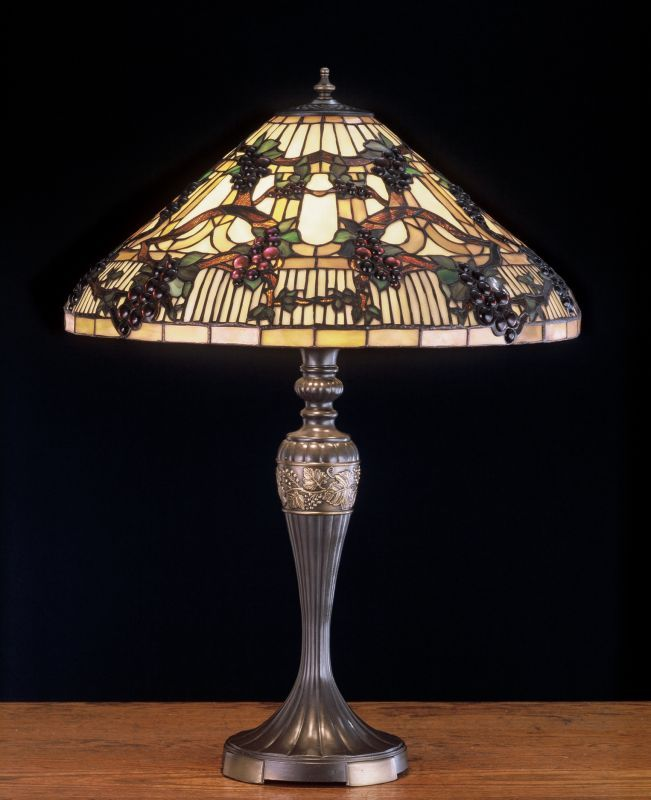 Meyda Tiffany 52129 Stained Glass / Tiffany Table Lamp from the Jeweled Grapes C Tiffany Glass Lamps Table Lamps Accent Lamps