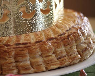 Galette des rois aux pommes et au miel