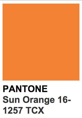Pantone 16 1257 Tcx Sun Orange Pantone Couleur Tendance
