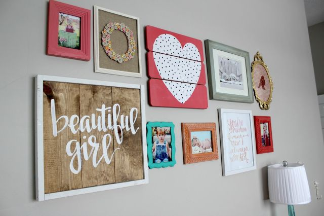 coral and teal girl room- girl room ideas= nursery design- gallery wall idea- OOH LAH LAH DESIGNS