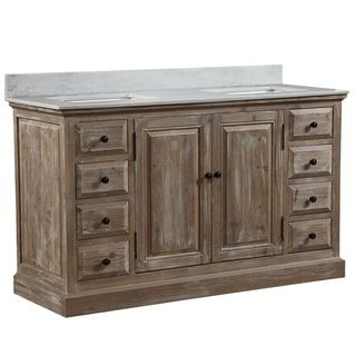 Shop for Infurniture 60-inch 2-sink Bathroom Vanity with White Quartz Top. Get free delivery at Overstock.com - Your Online Furniture Outlet Store! Get 5% in rewards with Club O! - 22730361