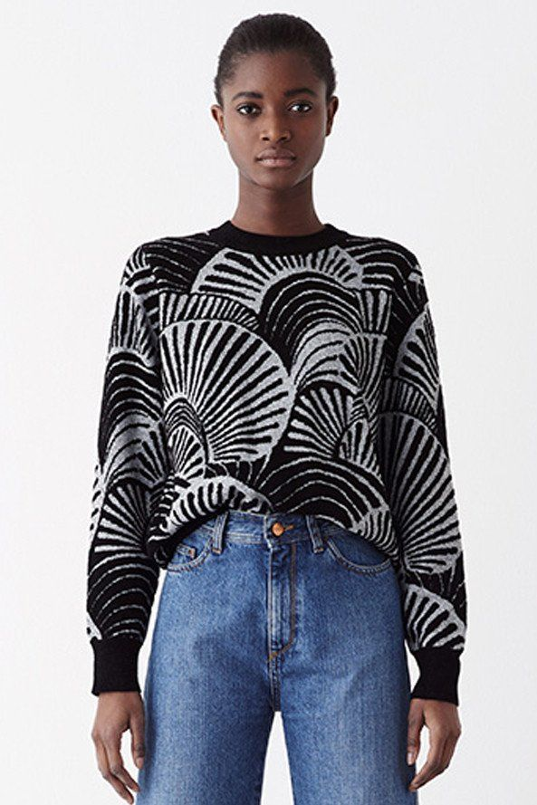 Rodebjer Sitwell Black/White Sweater