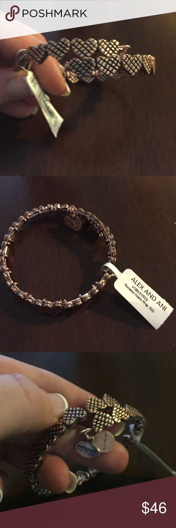 Alex and Ani bracelet Alex and Ani rose gold romantic hearts wrap bracelet. New with retail tags. Alex and Ani Vintage sixty-six Alex & Ani Jewelry Bracelets