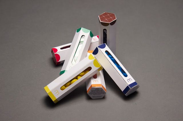 M&M's Cylinders by Shasha Léonard (Student Project) on Packaging of the World - Creative Package Design Gallery