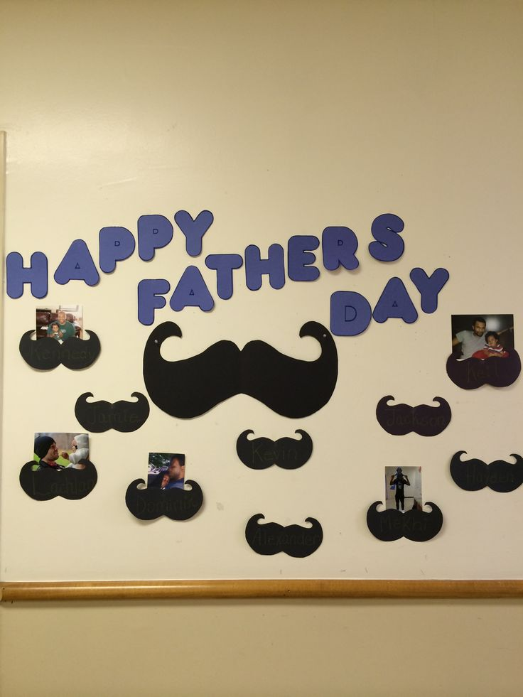 Church Classroom Decoration ~ Happy father s day bulletin board toddler art work