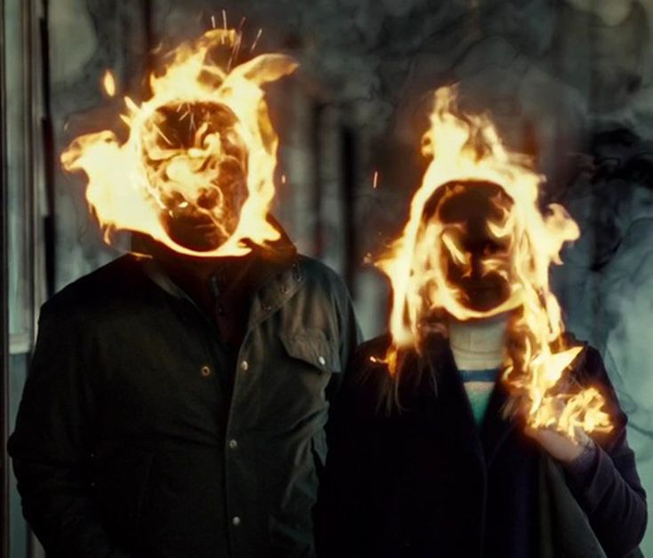 on fire #art #movies #photography #fire #couple #love