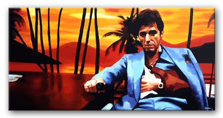 SCARFACE SUNSET WALLPAPER Movie Pop Art print and Movie