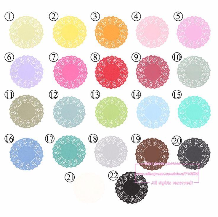 20 unids, 4.5 Pulgadas Total 23 Color Vintage Lace Ronda Blondas de Papel Doyley Papel Scrapbooking para Halloween Navidad #0-65