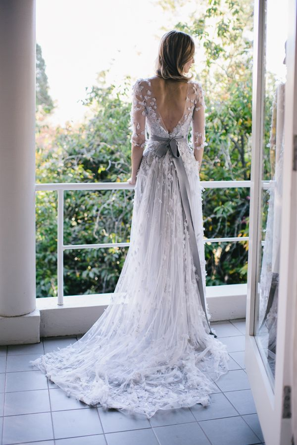 absolutely obsessed with this custom wedding gown! // #garden #wedding #petals