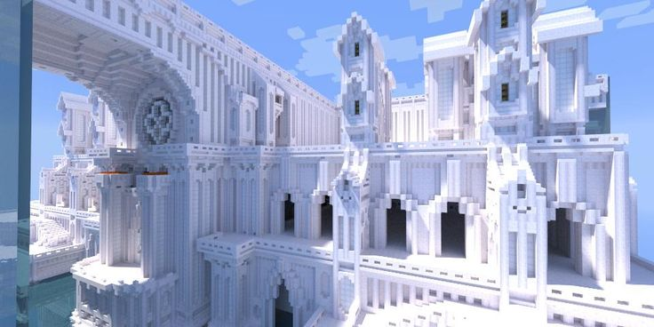 A white Castle in Minecraft. This would take forever to make