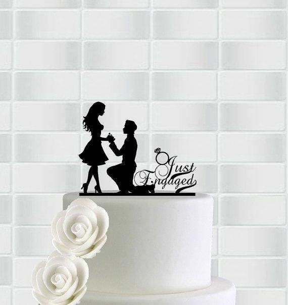 Engagement Cake Topper,Engagement Party Decorations,Just Engaged Cake Topper,Engagement Party Ideas,Cake Topper…