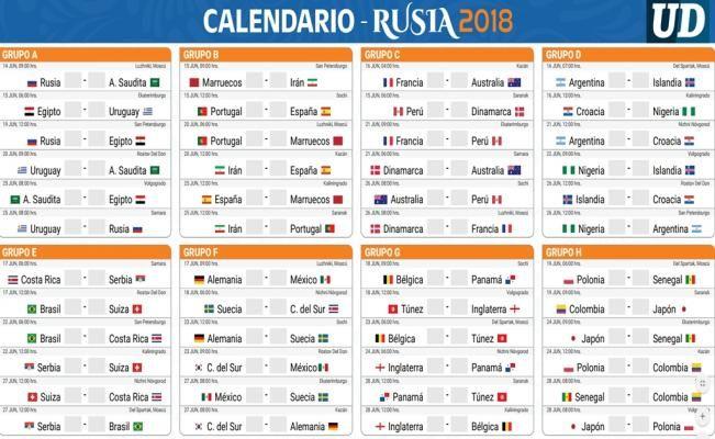 Calendario Mundial Futbol.Rusia 2018 El Universal En Rusia Calendarios Calendario De
