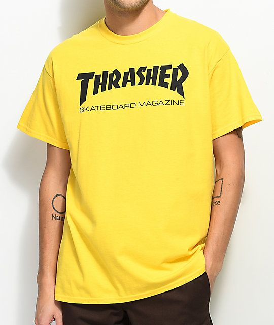 637e07911380 Thrasher Skate Mag Yellow T-Shirt | Wish List | Yellow t shirt ...