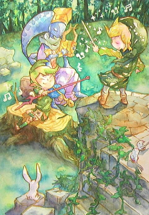 The Legend of Zelda: The Wind Waker   Toon Link, Laruto, and Fado / 「小さな音楽会」/「イヌガミ」のイラスト [pixiv]