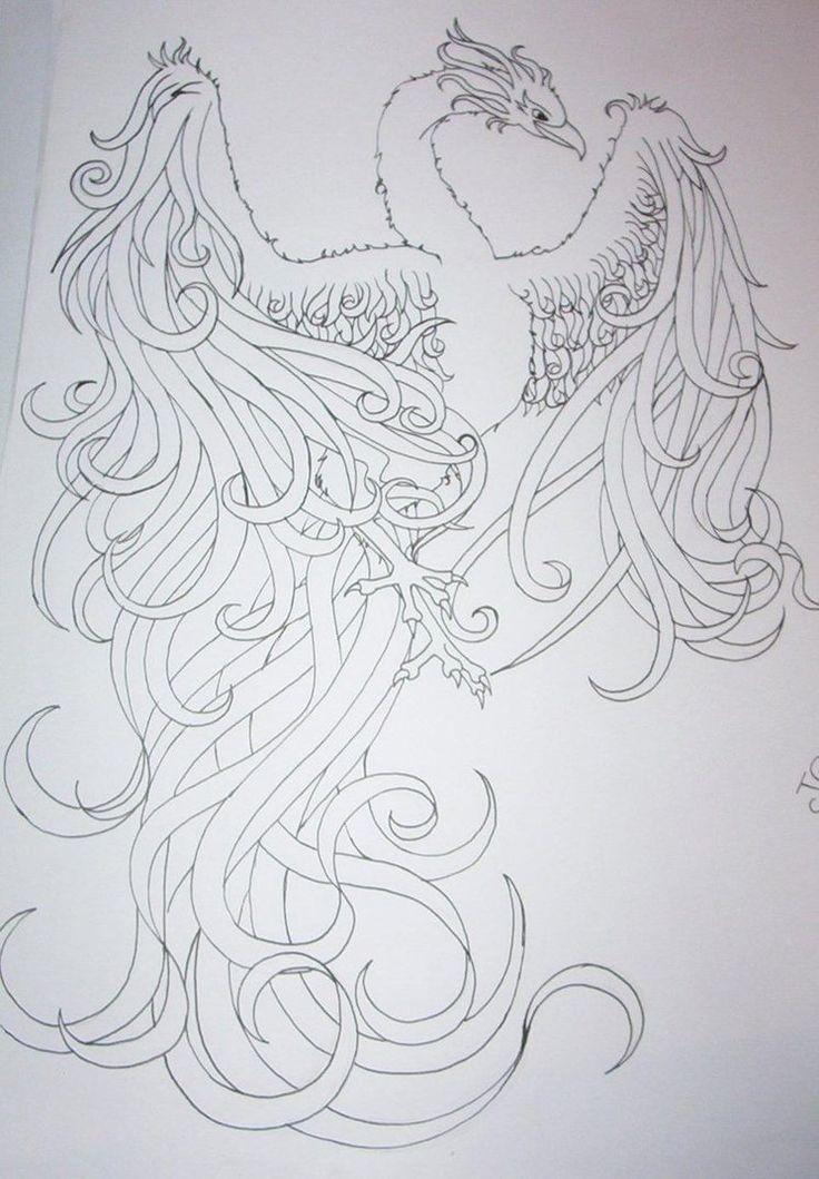 phoenix tattoo design by tattoosuzette