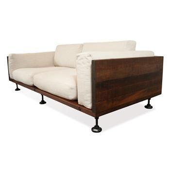 Andrew Industrial Reclaimed Wood Cast Iron Sofa #Kathykuohome