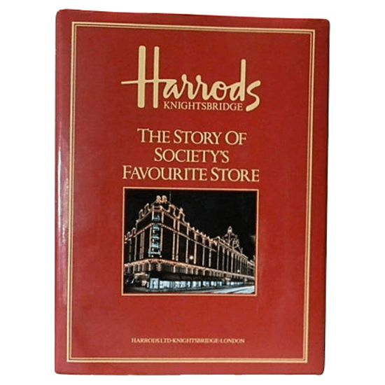 """""Harrod's Knightsbridge, The Story of Society's Favourite Store"", Ebury Press, London, 1991. The fascinating history of one of the world's most famous stores in a beautiful fabric-wrapped hardbound book chocked full of color and b/w photos and illustrations. 176 pages of fine, high stock gloss paper. A fine copy with an unclipped d.j."""