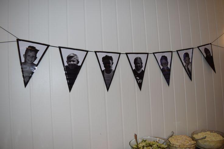 Vimpler - konfirmasjon - dekor - svart/hvitt bilder av konfirmant - skinnsnor